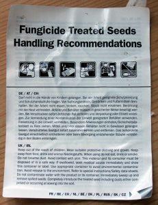 Getreidesaatgut wird mit Fungiziden gebeizt