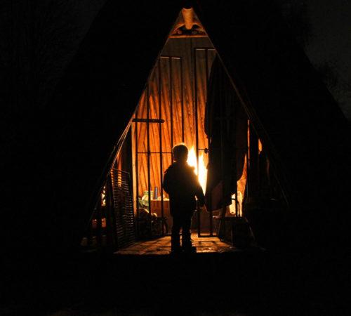 Julfest in der Köhlerhütte
